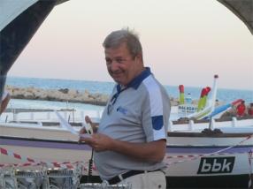 Pepe Almoguera, padre del surf en Málaga y presidente de la Liga de Jábegas, fallecido inesperadamente en abril de 2014. Foto: Daniel Esparza