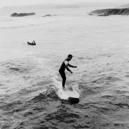 Maruri en el Sardinero, aprox otoño de 1965. Foto: Archivo Mecolay.