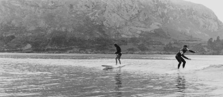 Maruri y Giribet en Islares, aprox 1966. Foto: archivo Mecolay