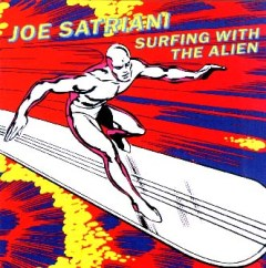Portada del disco, Surfing with the Alien.