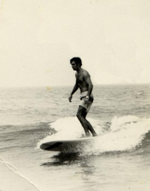 Jesús Fiochi en el Sardinero, 1967.