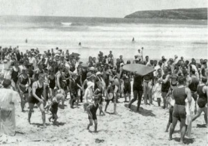 Duke en la exhibición de Fresh Water, enero de 1915.