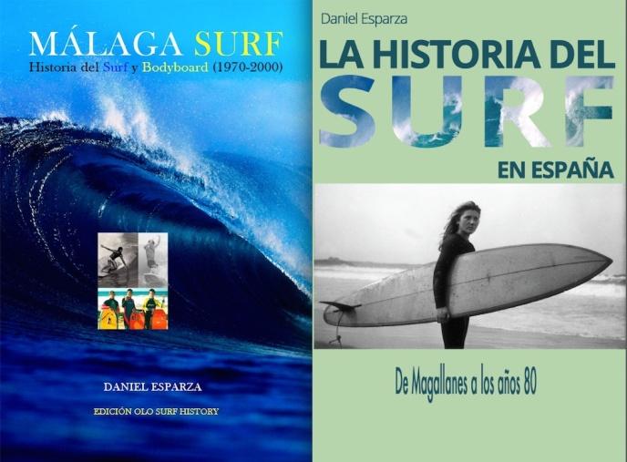 He aquí las dos primeras monografías académicas sobre historia del surf en Europa. Las primeras ediciones publicadas por la universidad de Olomouc están agotadas. En la foto: las portadas de las segundas ediciones, de venta exclusiva en Amazon.es.