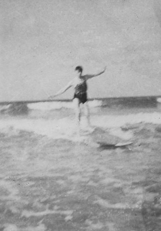 Staffieri surfing in 1941