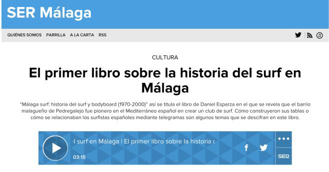 Malaga surf libro 2 cadena SER